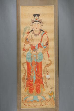 张大千临摹敦煌壁画作品即将在杭州开展