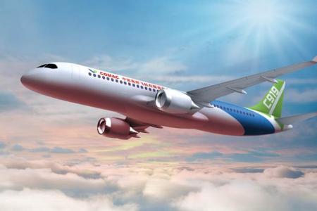 """国产大飞机c919展翅 a股产业链公司""""伴飞"""""""