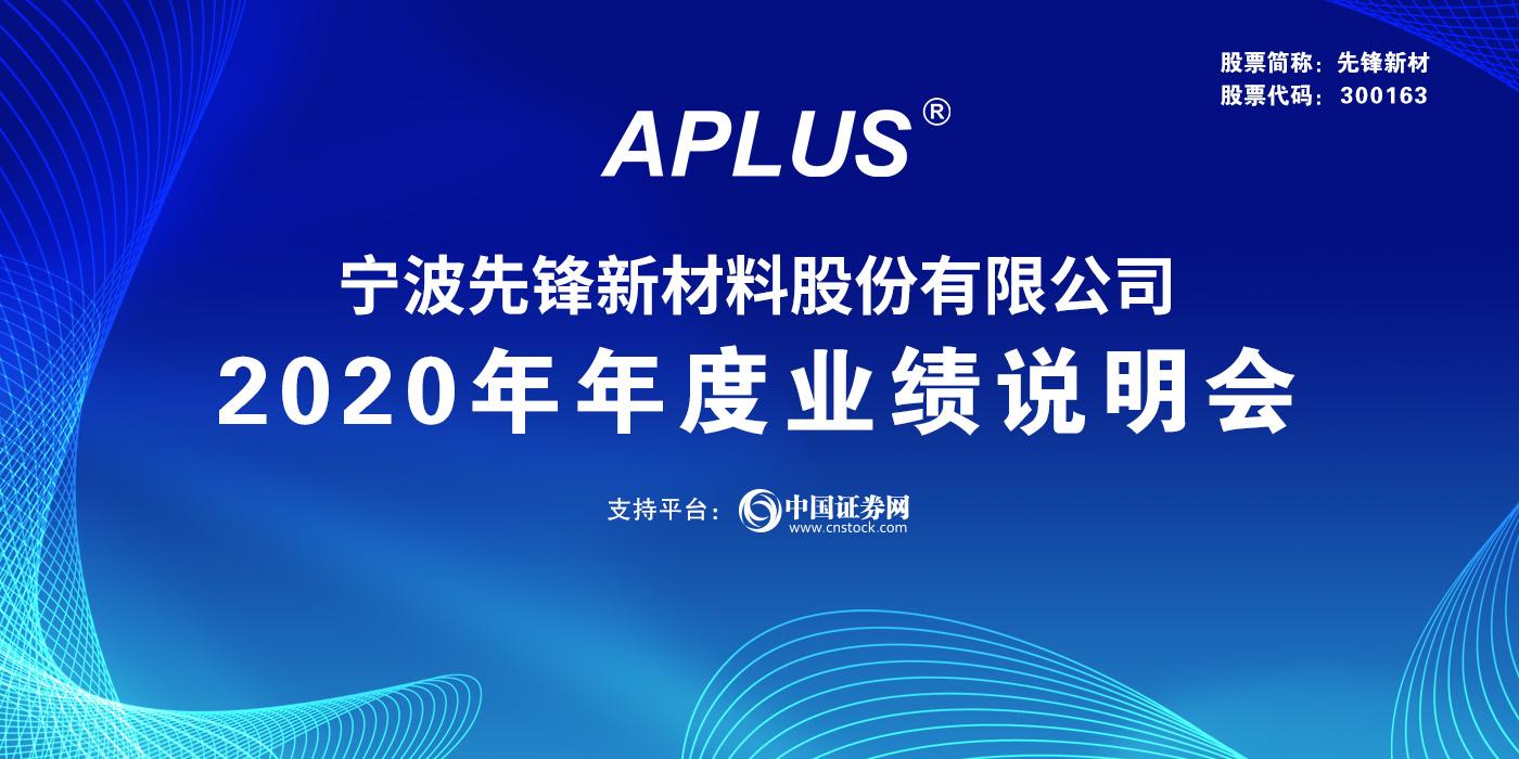 宁波先锋新材料股份有限公司2020年度业绩说明会